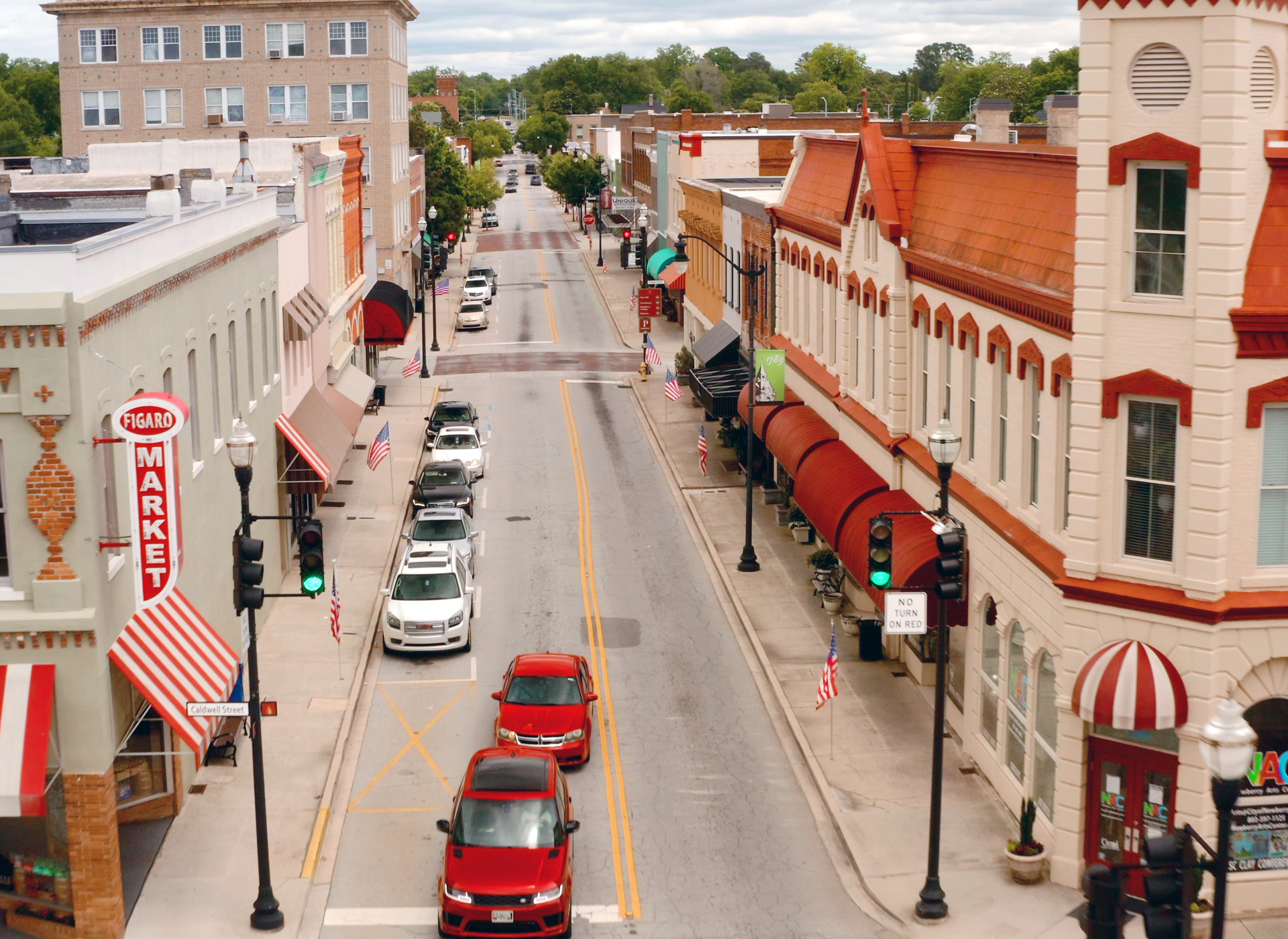 Downtown Newberry, SC     Figaro Market